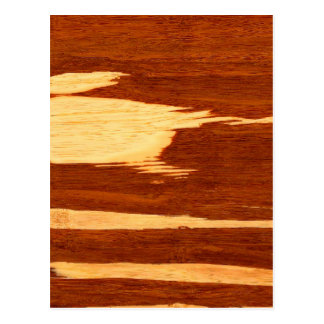 Mirada de madera de bambú del grano de la raya del tarjetas postales