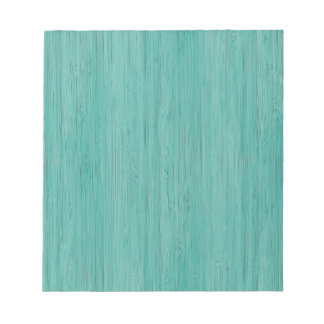 Mirada de madera de bambú del grano del Aquamarine Bloc De Notas