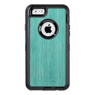 Mirada de madera de bambú del grano del Aquamarine Funda Otterbox Para iPhone 6/6s