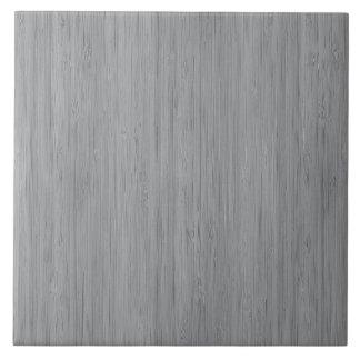 Mirada de madera de bambú del grano del gris de azulejo cuadrado grande