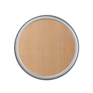 Mirada de madera de bambú del grano del melocotón altavoz