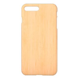 Mirada de madera de bambú del grano del melocotón funda para iPhone 7 plus