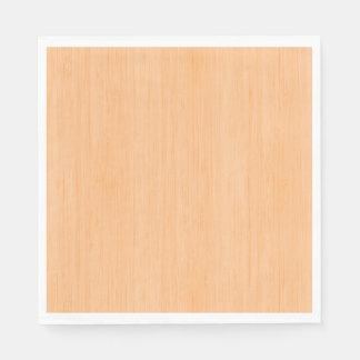 Mirada de madera de bambú del grano del melocotón servilletas desechables