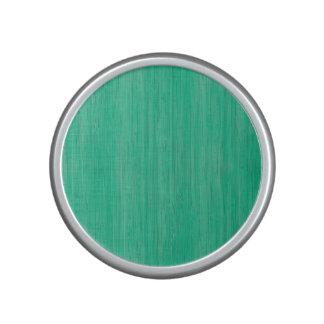 Mirada de madera de bambú del grano del verde de altavoz con bluetooth