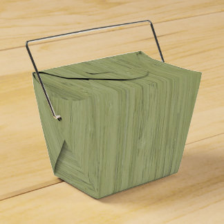 Mirada de madera de bambú del grano del verde de cajas para detalles de boda