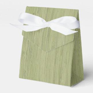 Mirada de madera de bambú del grano del verde de cajas para regalos de boda