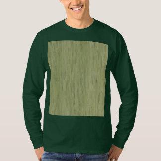 Mirada de madera de bambú del grano del verde de camisas