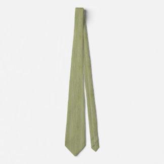Mirada de madera de bambú del grano del verde de corbatas