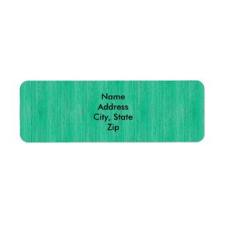 Mirada de madera de bambú del grano del verde de etiqueta de remitente