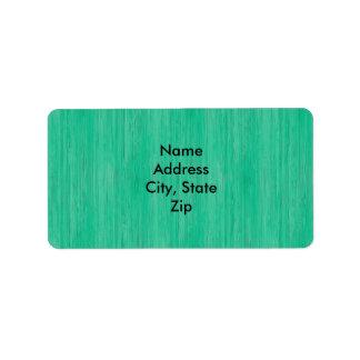 Mirada de madera de bambú del grano del verde de etiquetas de dirección