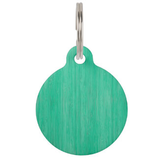 Mirada de madera de bambú del grano del verde de placa para mascotas