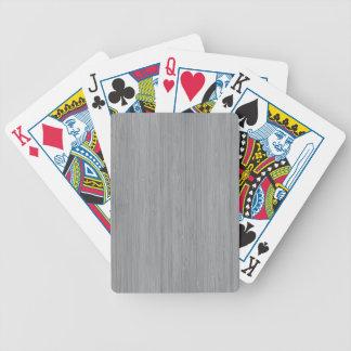 Mirada de madera de bambú del gris de ceniza baraja cartas de poker