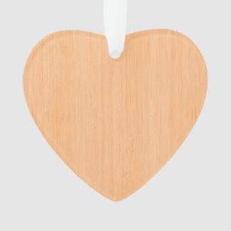Mirada de madera de bambú del melocotón