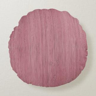 Mirada de madera de bambú púrpura de color de cojín redondo