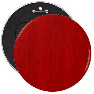 Mirada de madera de bambú roja marrón del grano pin redondo de 6 pulgadas