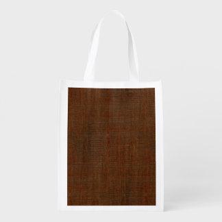 Mirada de madera de bambú rústica de la textura bolsa de la compra