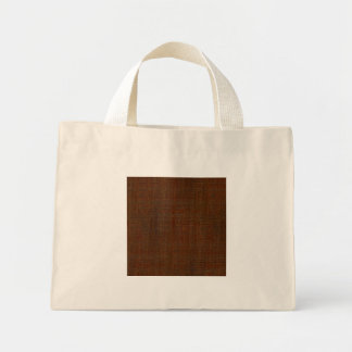 Mirada de madera de bambú rústica de la textura bolsa tela pequeña