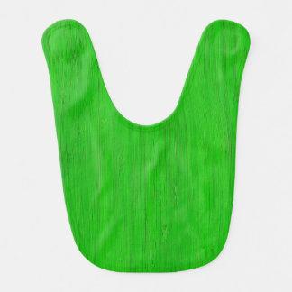 Mirada de madera de bambú verde clara del grano baberos de bebé