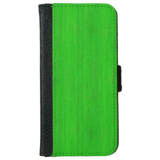 Mirada de madera de bambú verde clara del grano carcasa de iPhone 6