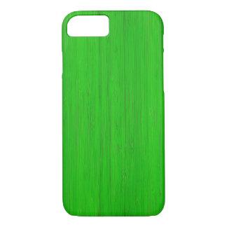 Mirada de madera de bambú verde clara del grano funda iPhone 7