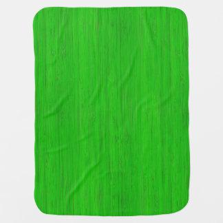 Mirada de madera de bambú verde clara del grano mantas de bebé