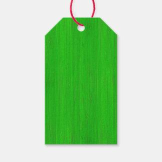 Mirada de madera de bambú verde clara etiquetas para regalos