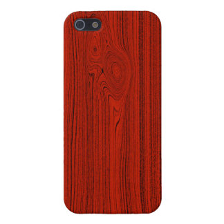 Mirada de madera de caoba roja del modelo del gran iPhone 5 carcasa