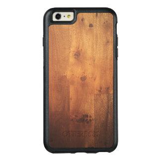 Mirada de madera de la naturaleza del grano de funda otterbox para iPhone 6/6s plus