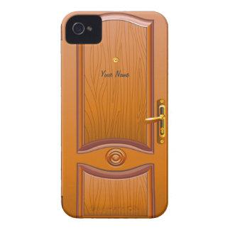 Mirada de madera de la puerta iPhone 4 funda