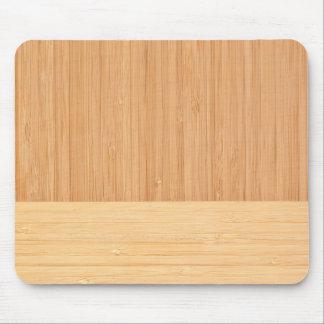 Mirada de madera del grano de la frontera de bambú tapetes de raton