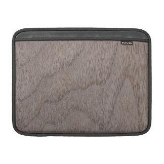 Mirada de madera del grano de la nuez blanca fundas macbook air