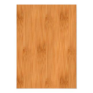 Mirada de madera del grano de la tostada de bambú invitaciones magnéticas