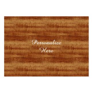 Mirada de madera del grano del acacia rizado de tarjetas de visita grandes
