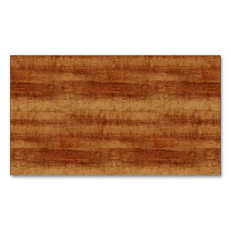 Mirada de madera del grano del acacia rizado de tarjetas de visita magnéticas (paquete de 25)