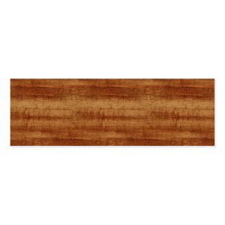 Mirada de madera del grano del acacia rizado de tarjetas de visita mini