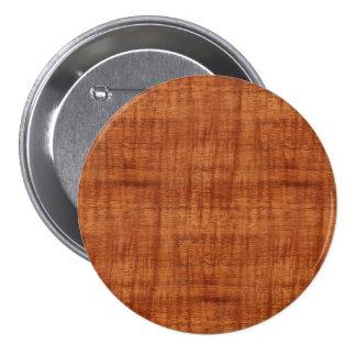 Mirada de madera del grano del acacia rizado pin redondo de 3 pulgadas