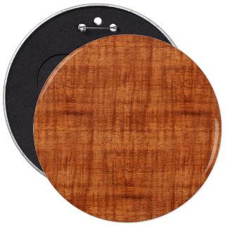 Mirada de madera del grano del acacia rizado pin redondo de 6 pulgadas