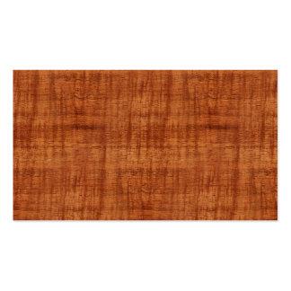 Mirada de madera del grano del acacia rizado tarjetas de visita
