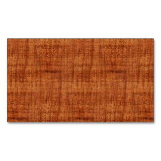 Mirada de madera del grano del acacia rizado tarjetas de visita magnéticas (paquete de 25)