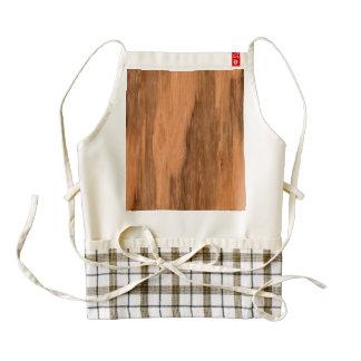 Mirada de madera del grano del eucalipto natural delantal zazzle HEART