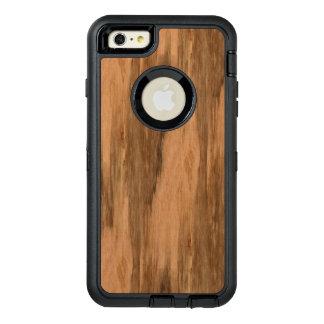 Mirada de madera del grano del eucalipto natural funda otterbox para iPhone 6/6s plus