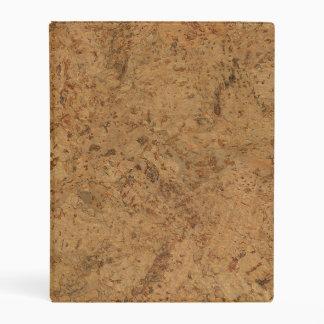Mirada de madera del grano del humo de la corteza mini carpeta