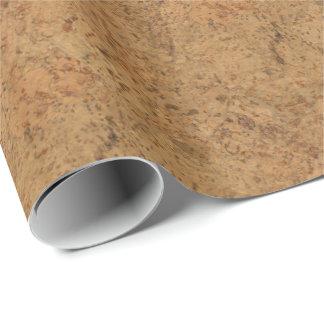 Mirada de madera del grano del humo de la corteza papel de regalo
