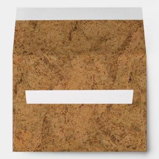 Mirada de madera del grano del humo de la corteza sobres