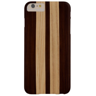 Mirada de madera del grano del palo de rosa del funda para iPhone 6 plus barely there