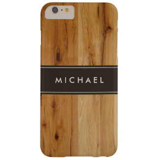 Mirada de madera elegante moderna del grano funda de iPhone 6 plus barely there