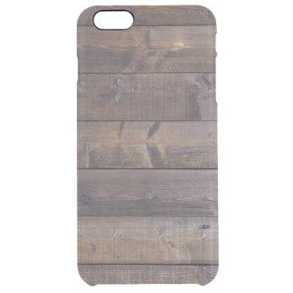 Mirada de madera elegante - textura de madera del funda clearly™ deflector para iPhone 6 plus de unc