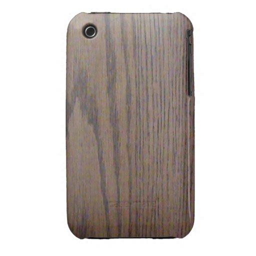 Mirada de madera iPhone3G del grano Case-Mate iPhone 3 Protectores