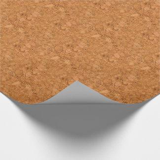 Mirada de madera maciza del grano del corcho papel de regalo