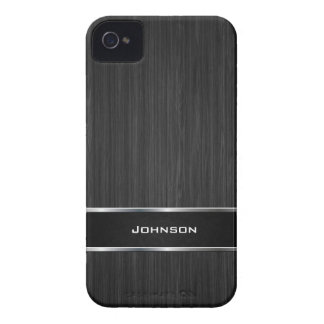 Mirada de madera negra con la etiqueta el | del cu Case-Mate iPhone 4 cárcasas